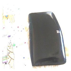 Bally Black Leather Wallet Cardholder